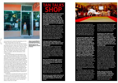 Tans Martial Arts features in Blitz Magazine