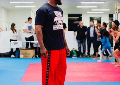 Tans Martial Arts Pants on Michael Jai White