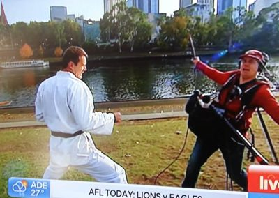 Tans Martial Arts gears up Tom Williams for Channel 7 Sunrise