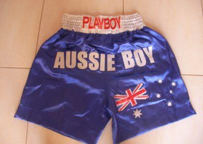 Tans-Martial-Arts-Custom Thai Shorts Aussie Boy
